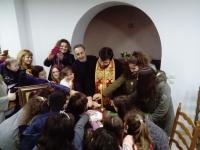 Ευλογία της Αγιοβασιλειόπιττας στον Ι.Ν. Ευαγγελισμού Θεοτόκου Ν. Χαλκηδόνος